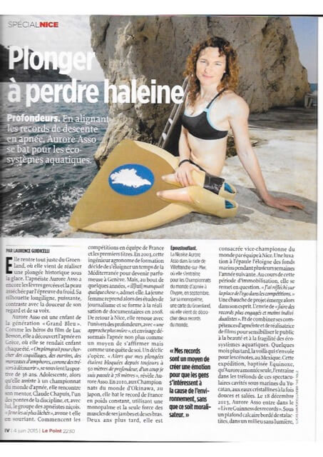 Aurore-1 Le Point 4juin2015