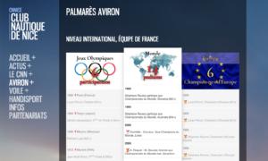 Page CNN Palmarès Aviron