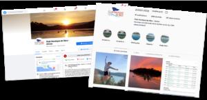 Nouvelles pages Facebook et Instagram Aviron