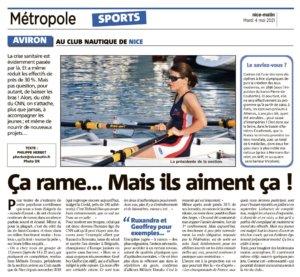 Article Nice-Matin du 4 mai 2021